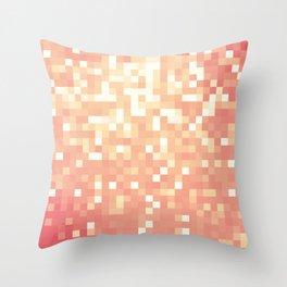 Peach Sparkle Pixels Throw Pillow