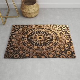 Black & Gold Mandala Rug