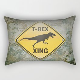 T-Rex Crossing Rectangular Pillow
