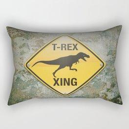 T-Rex Crossing Rectangular Pillow