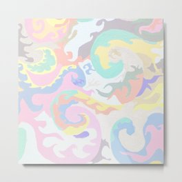 Opacity in Swirls Metal Print