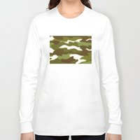 camo Long Sleeve T-shirts featuring CAMO by Bruce Stanfield