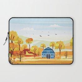 Autumn on the Farm Illustration Laptop Sleeve