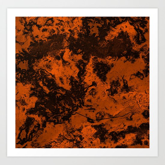 Galaxy in Orange Art Print