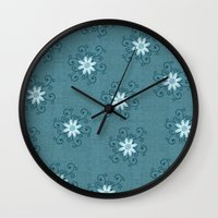 shiva Wall Clocks featuring Shiva by Brains Are Pretty - Caroline Okun