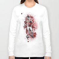 ronaldo Long Sleeve T-shirts featuring Cristiano Ronaldo - Portugal by Hollie B