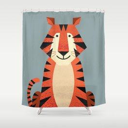Whimsy Tiger Shower Curtain