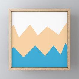 Sandy Blues Framed Mini Art Print