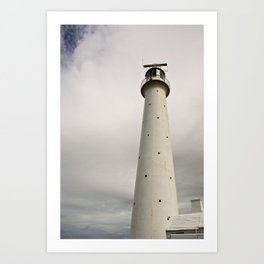 White Lighthouse Art Print