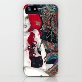 Darlings & Dragons Red, Light, and Blue iPhone Case