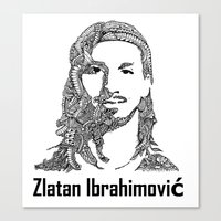 zlatan Canvas Prints featuring Zlatan  by christoph_loves_drawing
