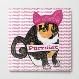 Purrsist Kitty Metal Print