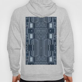 Blue Geek Motherboard Circuit Pattern Hoody