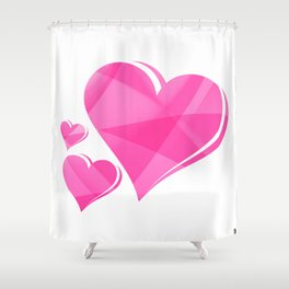 Love Hearts Shower Curtain