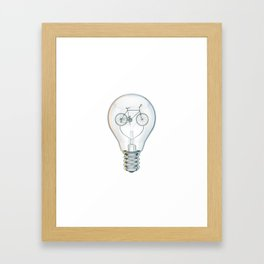 Light Bicycle Bulb Framed Art Print