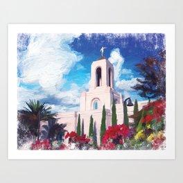 Newport Beach California LDS Temple Art Print