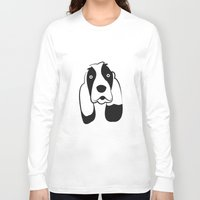 the hound Long Sleeve T-shirts featuring Basset Hound by anabelledubois