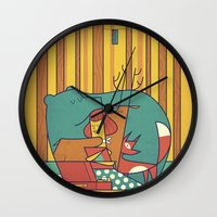 music Wall Clocks featuring MUSIC by Ale Giorgini