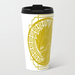 Stained Glass - Dragonball - Majin Vegeta Travel Mug