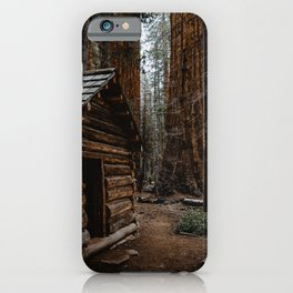 Log Cabin in the Giant Forest iPhone Case