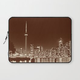Downtown Toronto Vintage Wall paper Laptop Sleeve