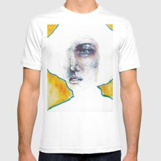 Uncertain Hour Before Morning White MEDIUM Mens Fitted Tee