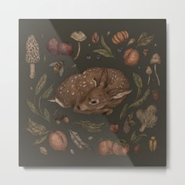 Foraging Fawn Metal Print