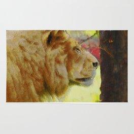 """""""The King"""" Big Cat Lion Artwork Rug"""