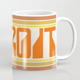 Detroit Travel Poster Coffee Mug