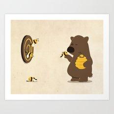 Bee game Art Print