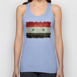 Syrian national flag, vintage Unisex Tank Top