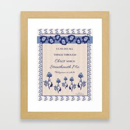 I Can Do All Things Reminder Poster Framed Art Print