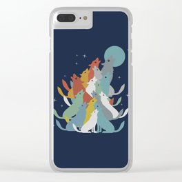 A Pack of Wolfs Clear iPhone Case
