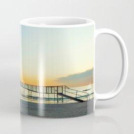Sandy beaches of Rimini shortly after dawn in winter Coffee Mug