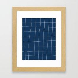Not So Perfect Grid Framed Art Print