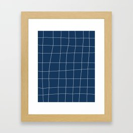 Not So Perfect Grid Framed Art Print