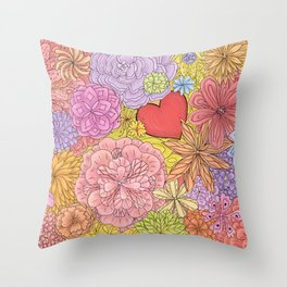 Feast Of Flowers Throw Pillow