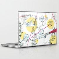 guns Laptop & iPad Skins featuring Ray Guns by Sarah Emily Kirk