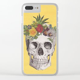 Tropical Skull Clear iPhone Case