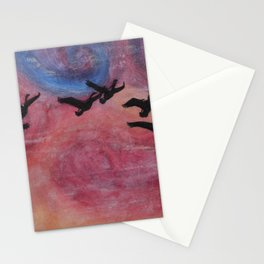 Freedom Flyers Acrylic Painting Stationery Cards