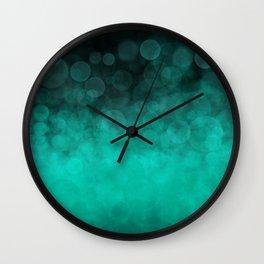 Aqua Cyan Spotted Wall Clock