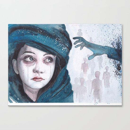 Screams of tiny hearts Canvas Print