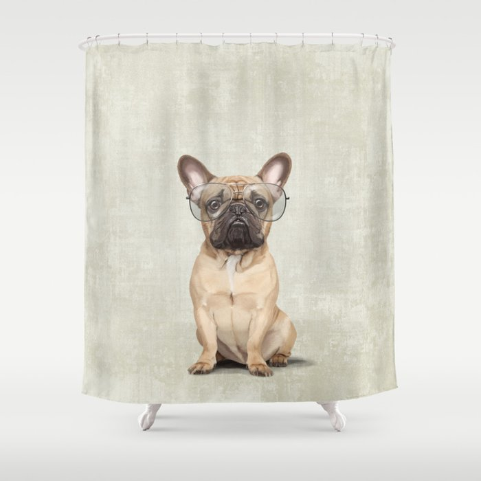 Mr French Bulldog Shower Curtain By Sparafuori