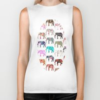 preppy Biker Tanks featuring Floral Herd by Girly Trend
