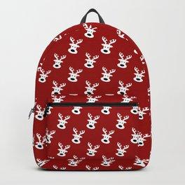 Reindeer on red background Backpack