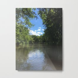 Kayak the Nippersink Creek Metal Print