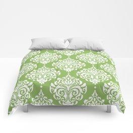 Green Damask Comforters