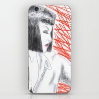 mia wallace iPhone & iPod Skins featuring Mia Wallace by Natália Damião