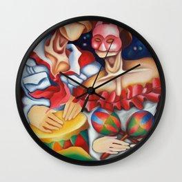 Noche de Carnaval. Miguez Cuban Art Wall Clock