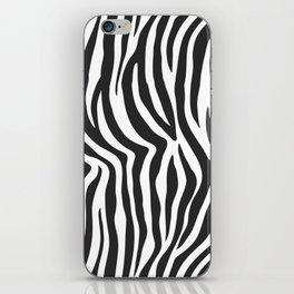 Zebra Stripes Wild Animal Print iPhone Skin
